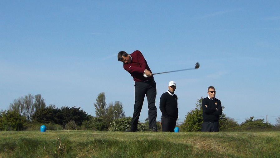 Sam Henfrey at the 11th tee